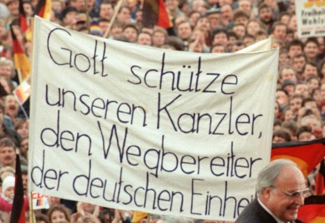 Bundeskanzler Helmut Kohl in Erfurt 1990