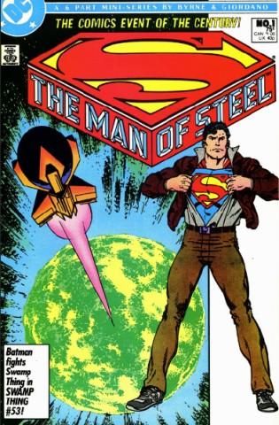 Superman auf einem Cover.