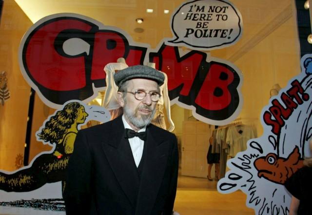 Der amerikanische Comiczeichner Robert Crumb