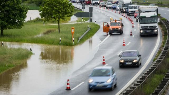 Hochwasser in Nordbayern