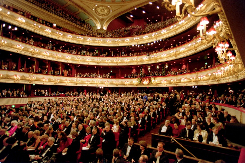 Royal Opera House London Großbritannien Publikum