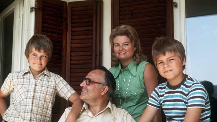 Helmut Kohls Hannelore Söhne Peter Walter Urlaub 1975