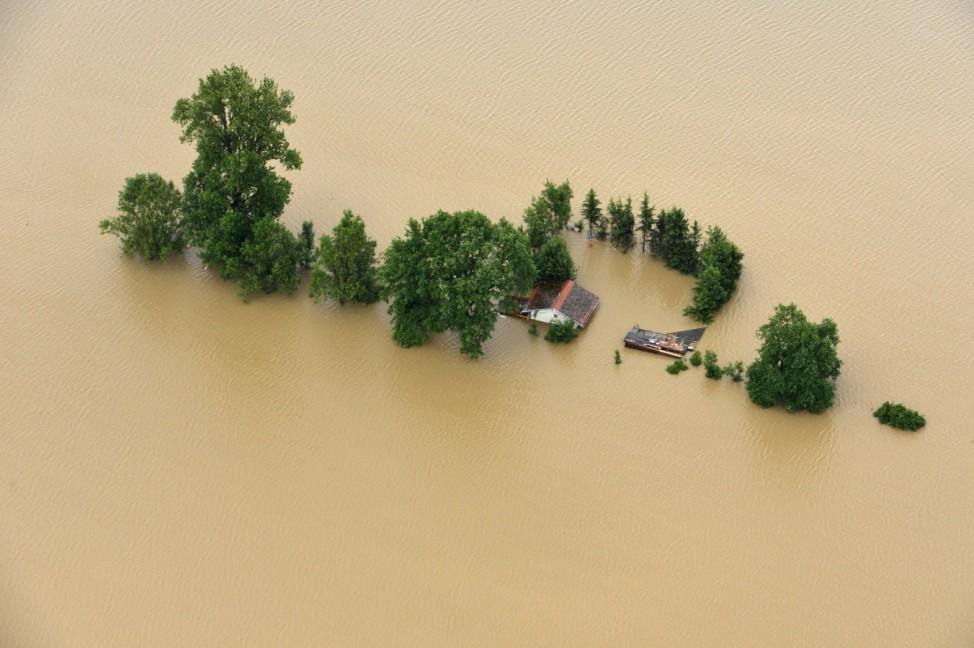 Hochwasser bei Burghausen