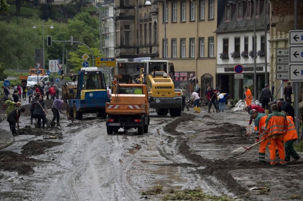 Hochwasser Thüringen - Greiz