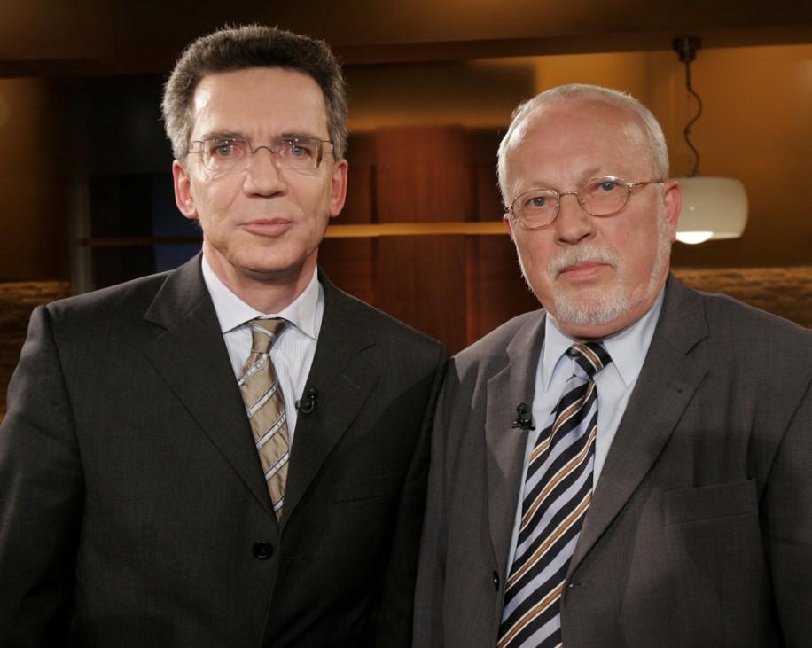Thomas und Lothar de Maiziere bei Maischberger