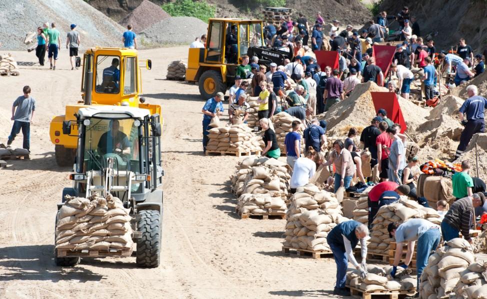 Hochwasser in Niedersachsen - Vorbereitungen