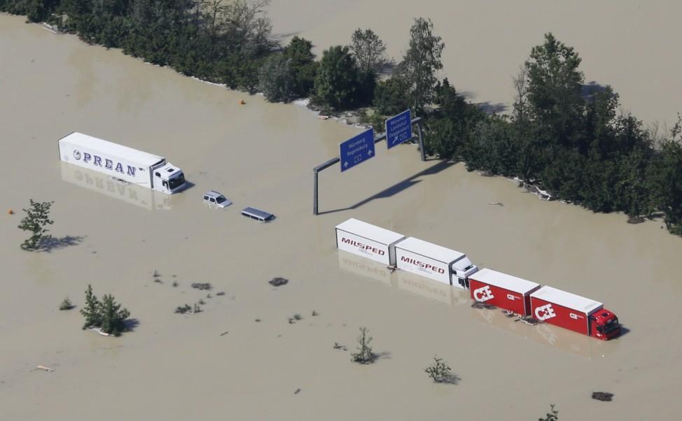 Hochwasser in Bayern, Deggendorf