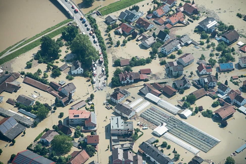 Hochwasser Bayern - Deggendorf
