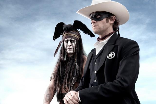 "Johnny Depp als Tonto in ""Lone Ranger"""