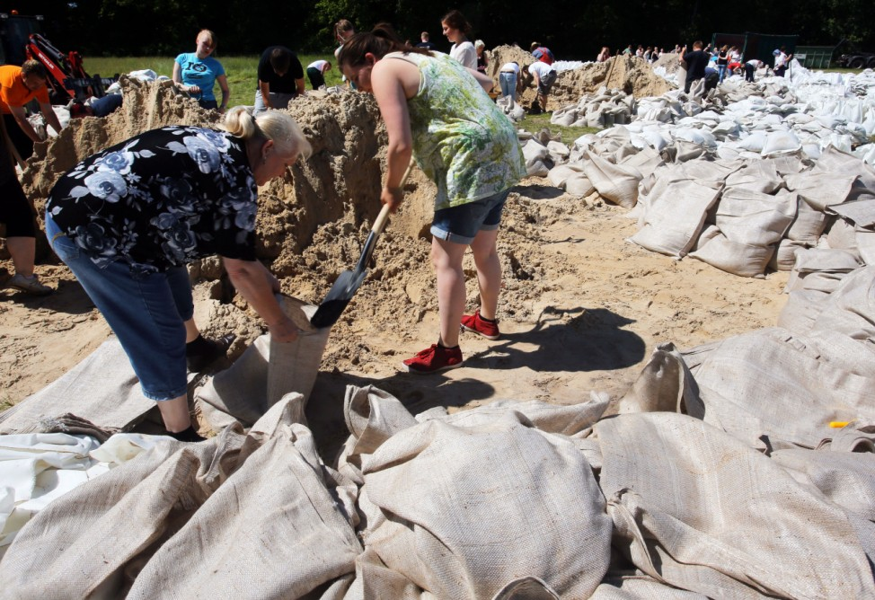 Vorbereitung auf Elbe-Hochwasser