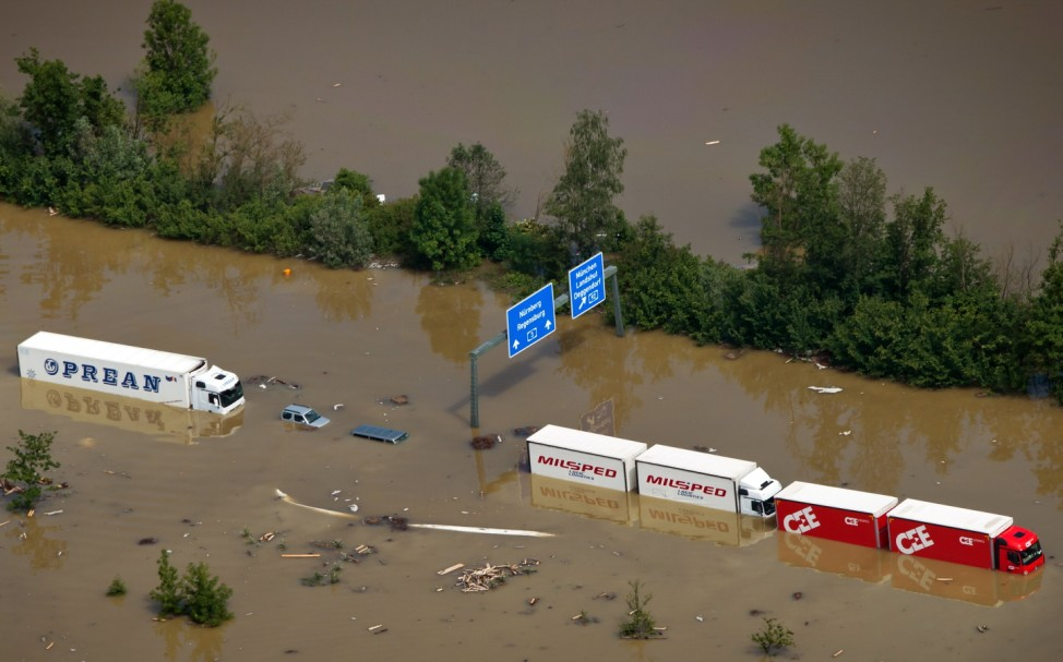 Floods Hit Germany: Danube and Inn