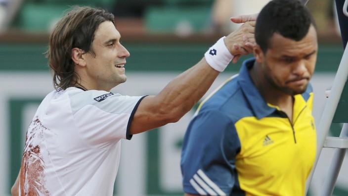 David Ferrer besiegt Jo-Wilfried Tsonga im Halbfinale der French Open in Paris