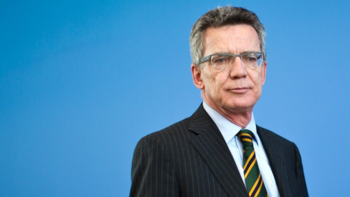 Verteidigungsminister Thomas de Maizière