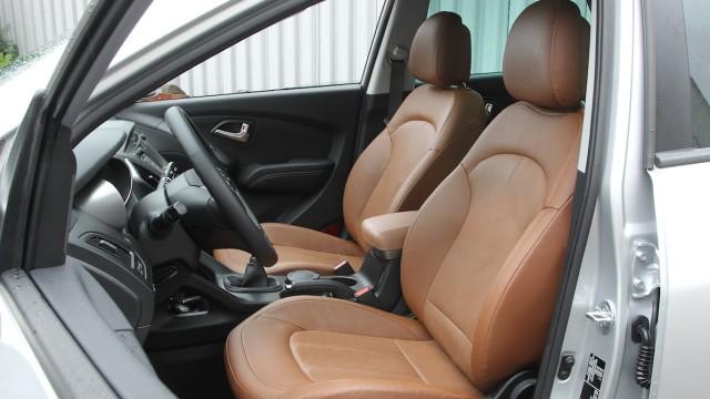 Der Innenraum des Hyundai ix35 bietet ausreichend Platz - auch auf der Rückbank.