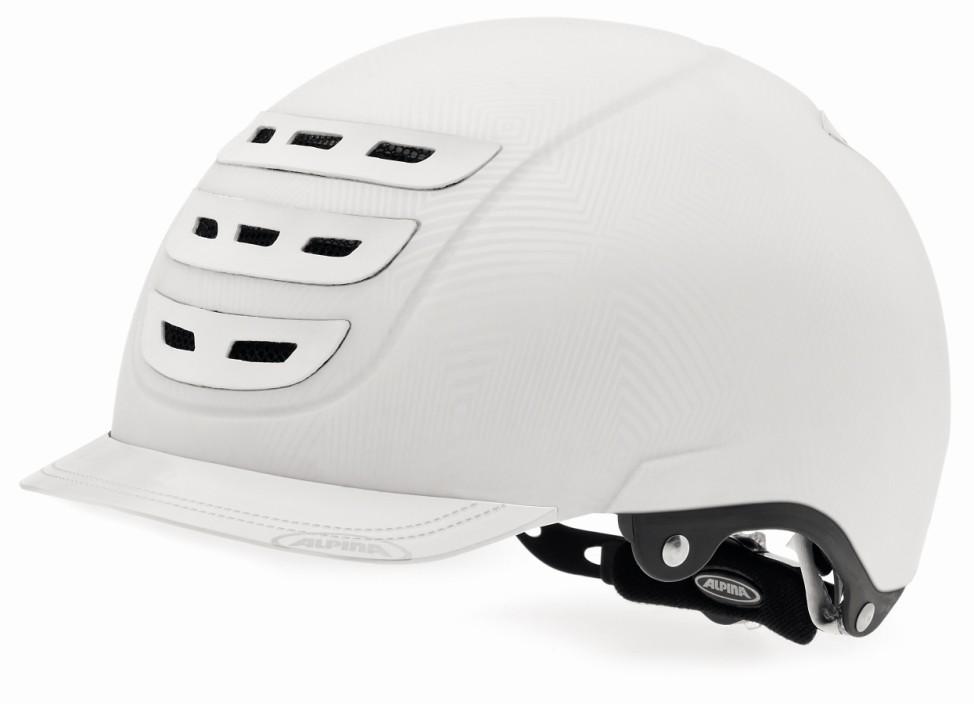 Der Alpina Sports City Helm erinnert an einen Reiterhelm. Immer mehr Radfahrer bevorzugen dieses Design. Bei Stiftung Warentest schneidet der Helm allerdings nicht gut ab. Druckstellen an der Stirn un