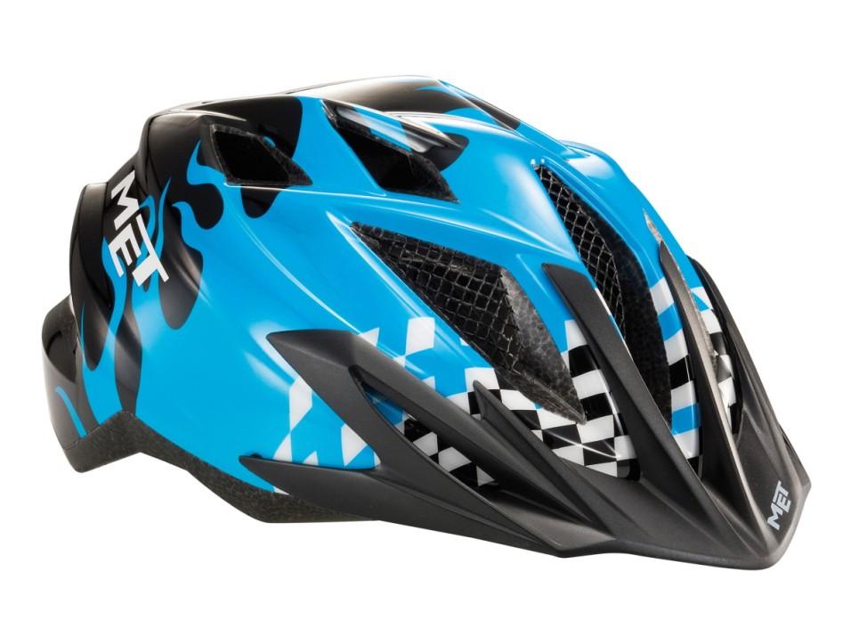 Der Radhelm Met Crackerjack sieht zwar schnittig aus, drückt aber an vielen Stellen. Ein Vorteil hat der Helm - er ist nachts gut beleuchtet.