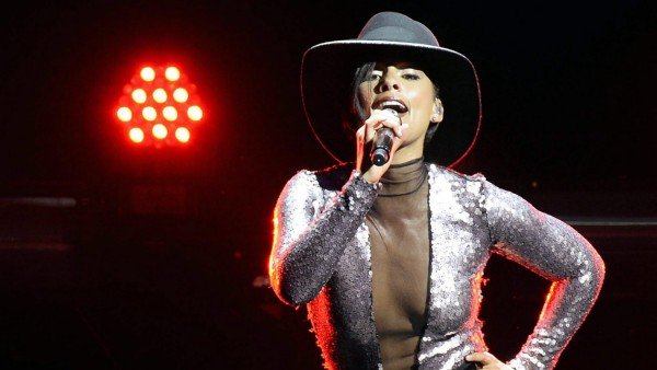 US singer Alicia Keys performs