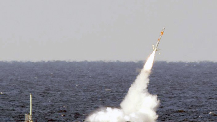 File photograph of USS Florida launching a Tomahawk cruise missile