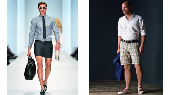 Männer in Shorts