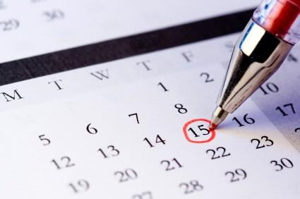 Datum im Kalender