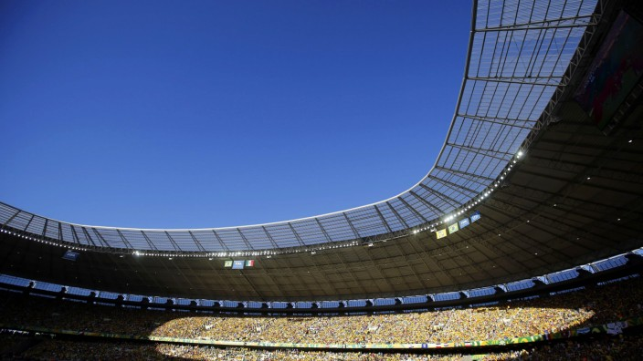 A general view of the Estadio Castelao during the Confederations Cup Group A soccer match between Brazil and Mexico in Fortaleza