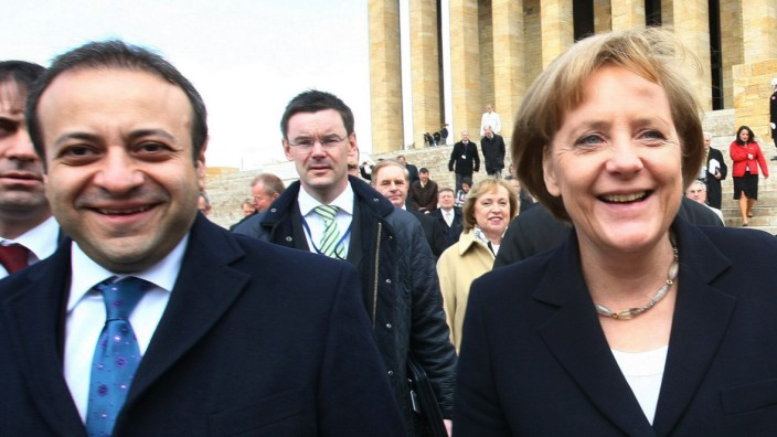 Bagis und Merkel in der türkischen Hauptstadt Ankara Türkei
