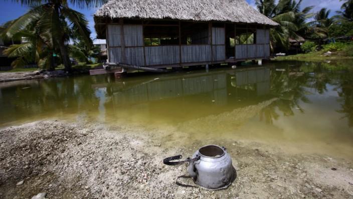 Kiribati Pazifik Insel Inselstaat Hütte Pazifikregion