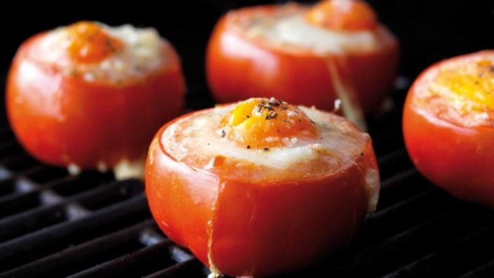 Tomaten auf Grill