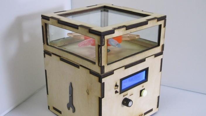 Schülerexperimente: Was entsteht, wenn Teenager einen Lasercutter zur Verfügung haben? Unter anderem diese Zentrifuge