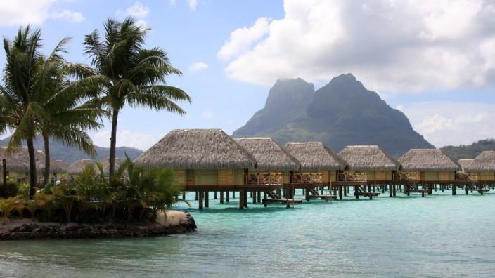 Insel Meer Hütten