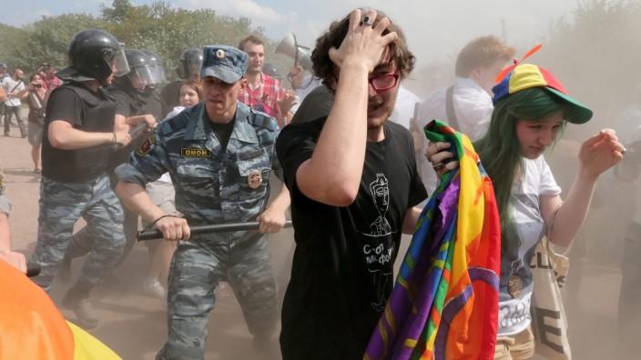 Demonstration gegen Homophobie in St. Petersburg