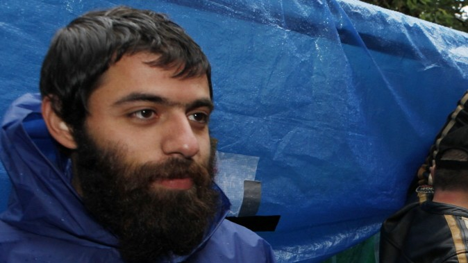 Ashkan Khorasani Hungerstreik Camp München Rindermarkt