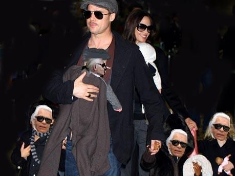 Brad Pitt ; Lagerfeld