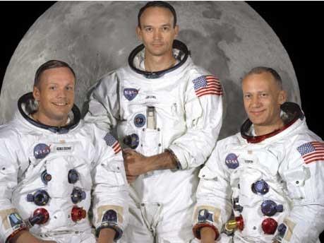 Neil Armstrong, Apollo 11, Michael Collins, Edwin 'Buzz' E. Aldrin Jr., Mondlandung, ddp