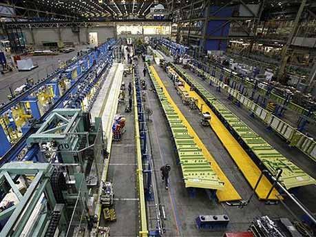 Produktionsbereich der Jumbos ; AP