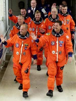 Rick Sturckow, Patrick Forrester, Mikhail Tyurin, Frank Culbertson, Vladimir Duzhurov, Daniel Barry, Scott Horowitz, Astronauten, Raumfahrt, Reuters