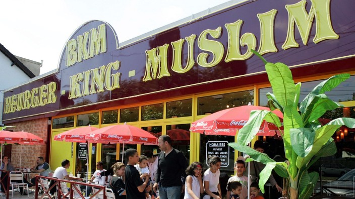 Newly-opened Beurger King Muslim fast-food restaurant is seen in Clichy-sous-Bois, France