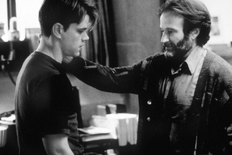 "Robin Williams und Matt Damon in ""Good Will Hunting"""