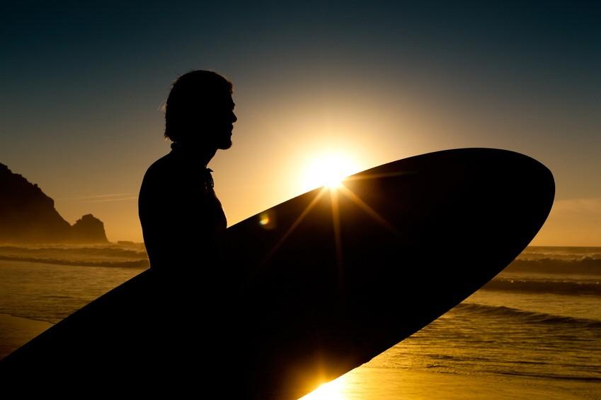 Surfer am Strand