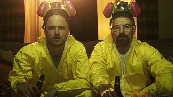 Aaron Paul und Bryan Cranston in Breaking Bad.