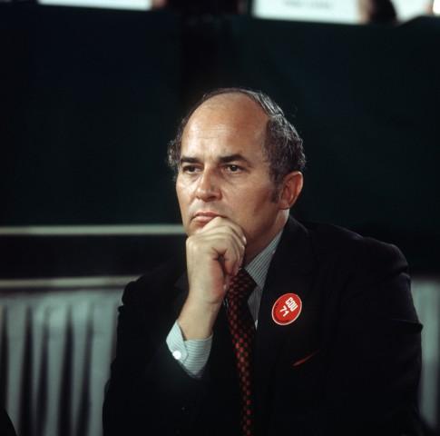 Rainer Barzel auf dem CDU-Parteitag in Düsseldorf 1971.