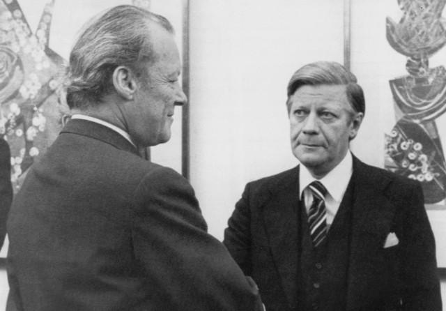 Willy Brandt und Helmut Schmidt, 1974