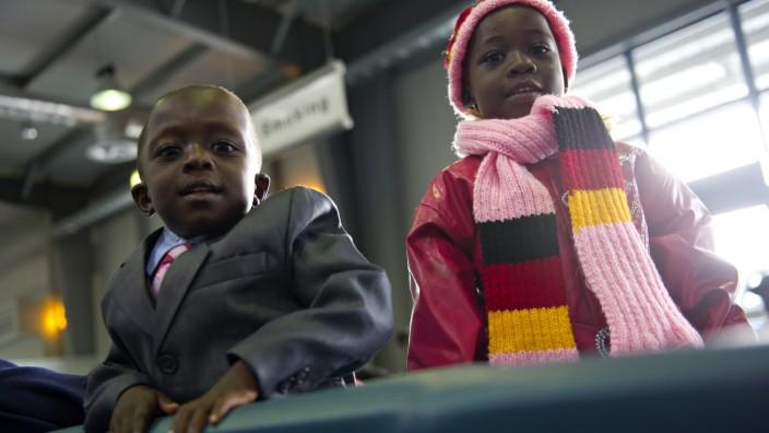 Flüchtlinge aus Afrika in Deutschland gelandet