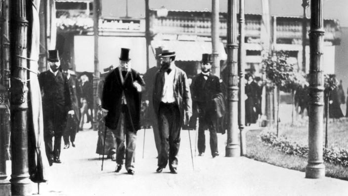 König Wilhelm I. auf der Kurpromenade in Bad Ems, 1870