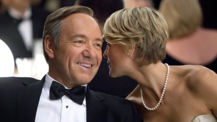 Kevin Spacey und Robin Wright in House of Cards.