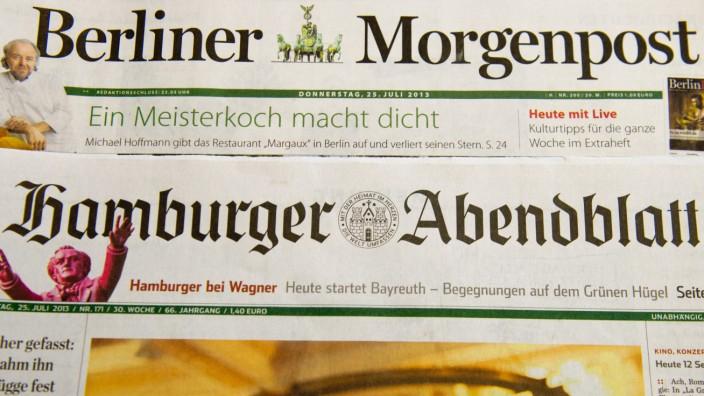 Axel Springer Verkauf Hamburger Abendblatt Berliner Morgenpost