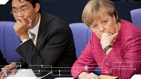 Steuergerechtigkeit: VizekanzlerRösler und KanzlerinMerkel: Steuervereinfachung ist keine leichte Aufgabe