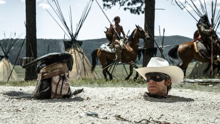 "Johnny Depp in dem Kinofilm ""Lone Ranger"""