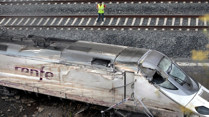 Spanish train accident aftermath