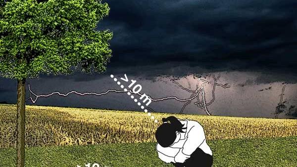 Bei Gewitter in die Hocke